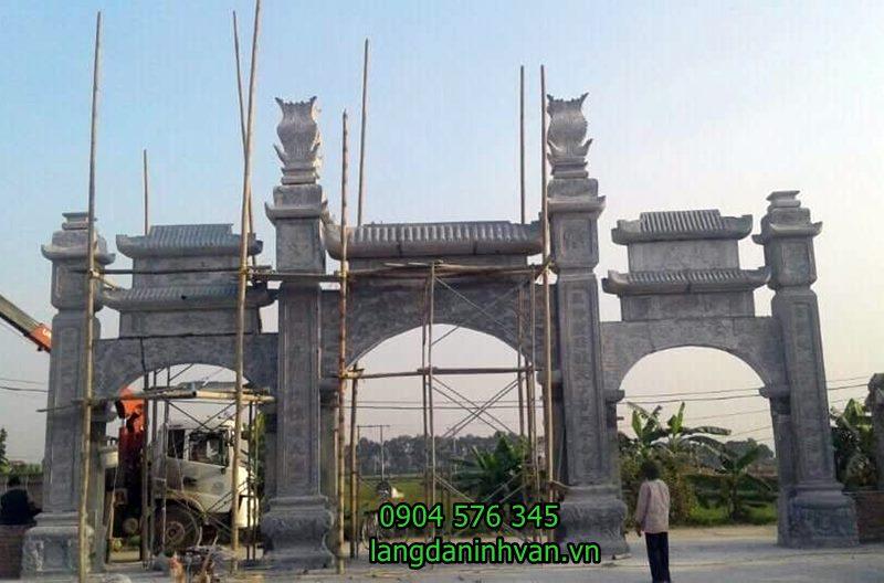 lắp đặt cổng nhà thờ họ bằng đá đẹp tại đà nẵng