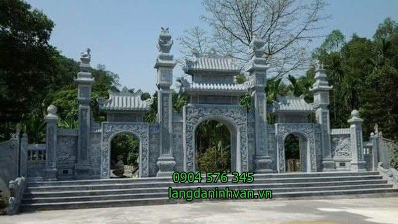 20 Mẫu Cổng đá - Cổng tam quan đá nhà thờ họ đẹp nhất