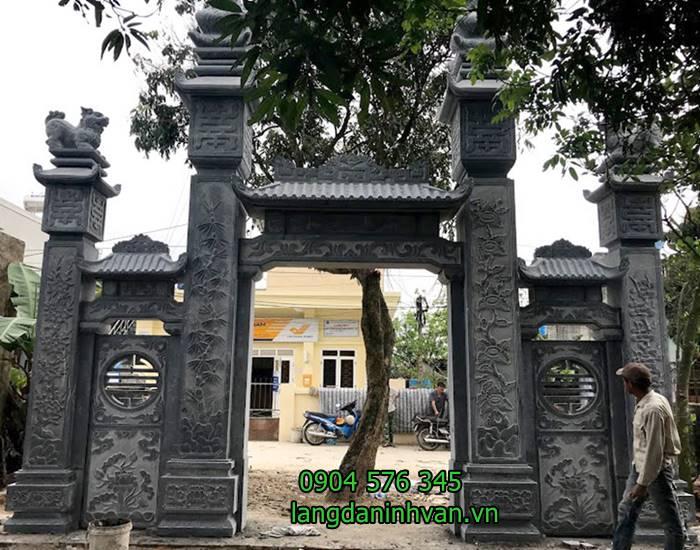 20 Mẫu Cổng đá - Cổng tam quan nhà thờ họ đẹp nhất