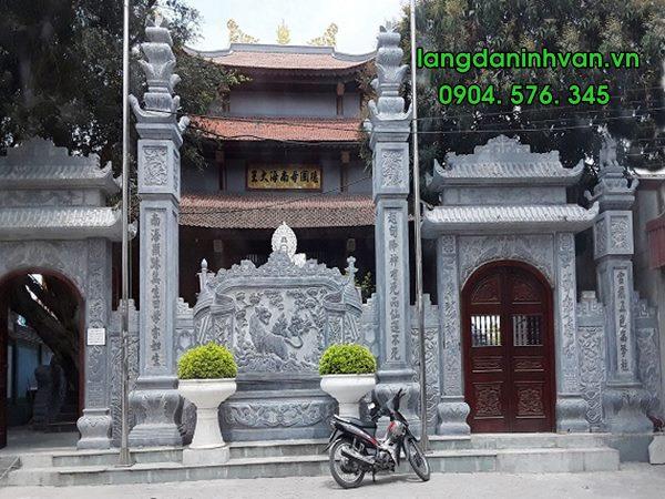 cổng đá đình chùa đẹp