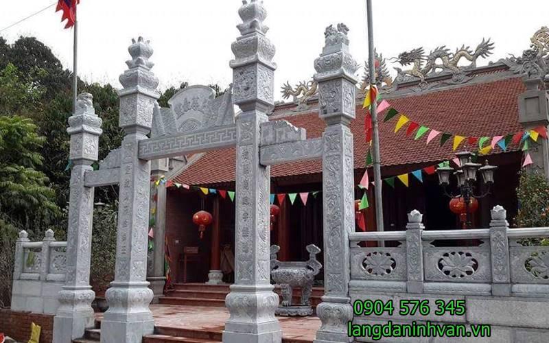 cổng đá nhà thờ họ phạm tại phú thọ