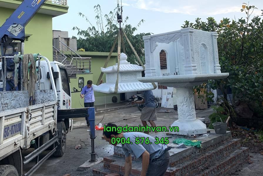 Bàn thờ thiên Cây hương đá đẹp được lắp đặt tại Hà Nội