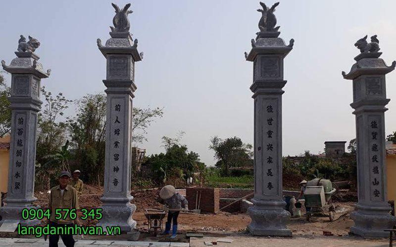 cổng nhà thờ họ bằng đá đẹp được lắp đặt tại nam định
