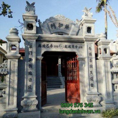 Cổng nhà thờ tộc bằng đá đẹp giá rẻ - cổng tam quan bằng đá