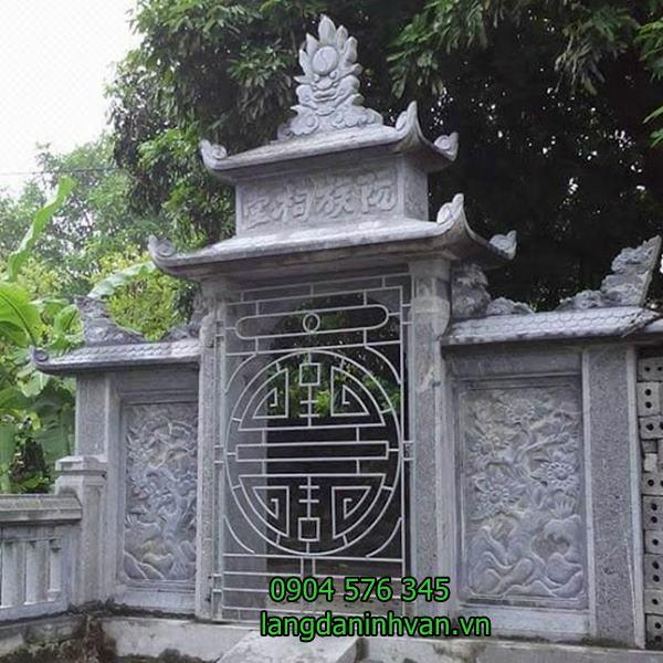 cổng từ đường bằng đá đẹp được lắp đặt tại quảng ninh