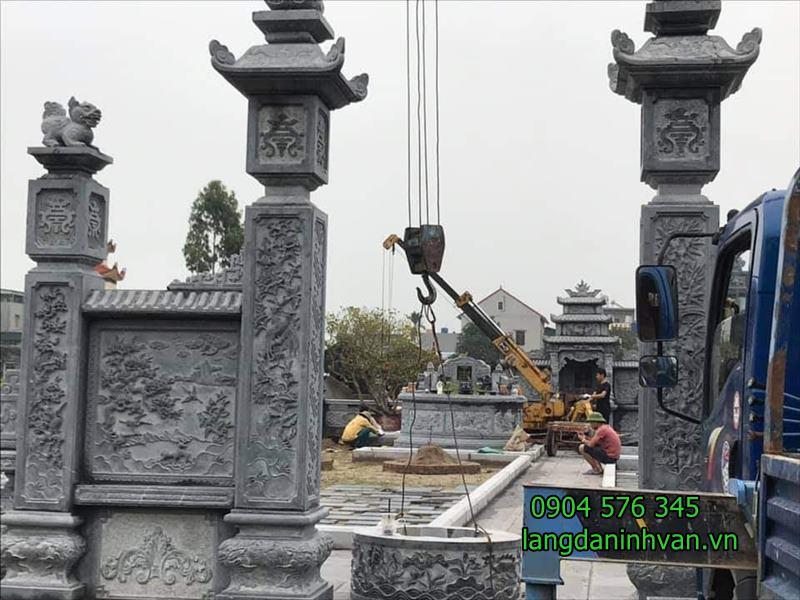 cổng khu lăng mộ đẹp - 01