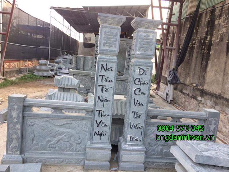 cổng khu lăng mộ đẹp được điêu khắc tại ninh bình - 06