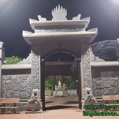 Mẫu cổng nhà thờ họ bằng đá xanh tự nhiên đẹp
