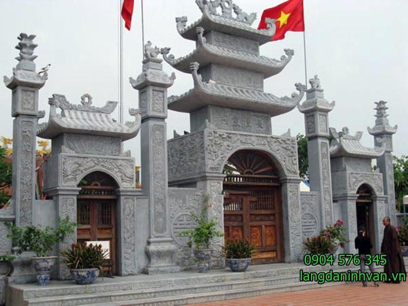 cổng nhà thờ họ đẹp bằng đá xanh tự nhiên