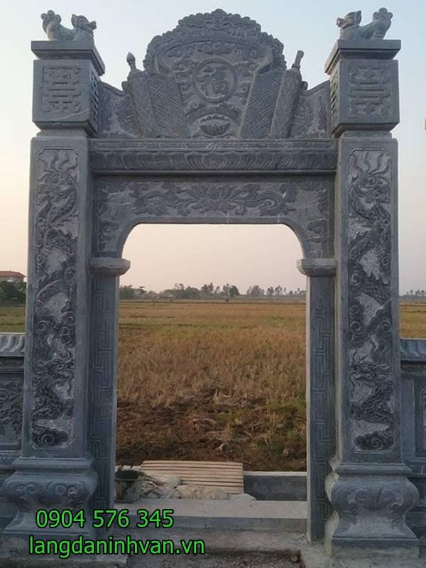 Mẫu cổng nhà thờ họ bằng đá xanh tự nhiên giá rẻ 56