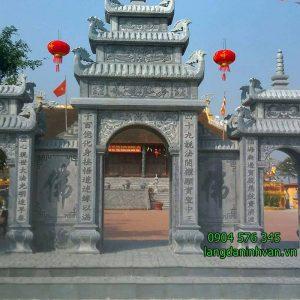Mẫu cổng nhà thờ họ bằng đá xanh tự nhiên giá rẻ 57