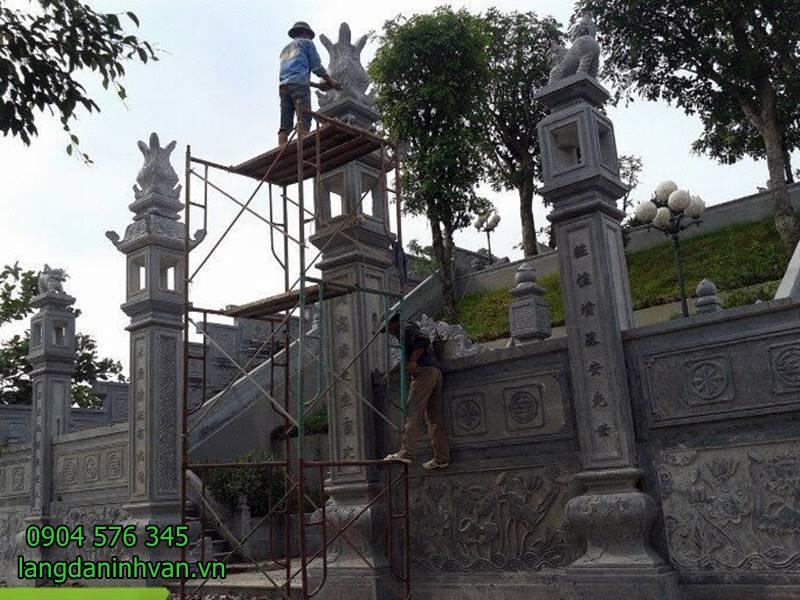 Mẫu cổng nhà thờ họ bằng đá xanh tự nhiên giá rẻ 58