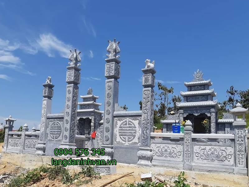 Mẫu cổng nhà thờ họ bằng đá xanh tự nhiên giá rẻ 61