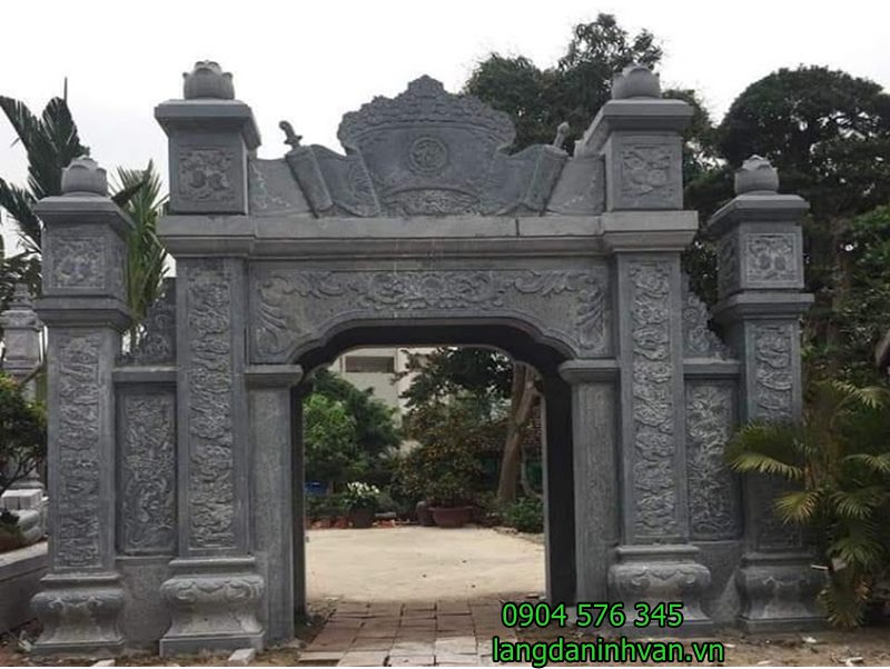 Mẫu cổng nhà thờ họ bằng đá xanh tự nhiên giá rẻ 66