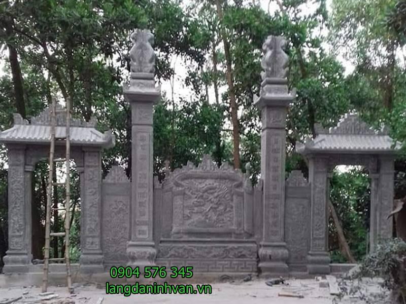 lắp đặt cổng chùa tam cấp bằng đá đẹp tại bắc ninh -67