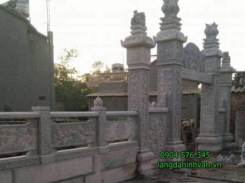 Mẫu cổng nhà thờ họ bằng đá xanh tự nhiên giá rẻ 73