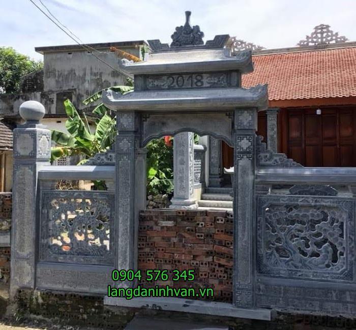 Mẫu cổng nhà thờ họ bằng đá xanh tự nhiên giá rẻ 80