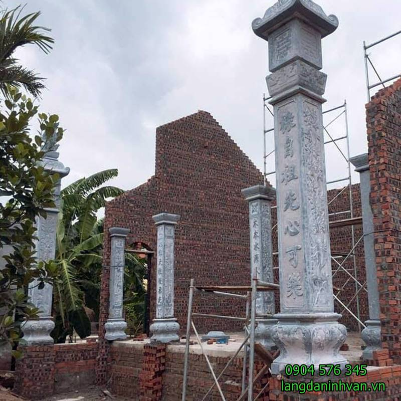 cột đá cột đồng trụ nhà thờ họ đẹp