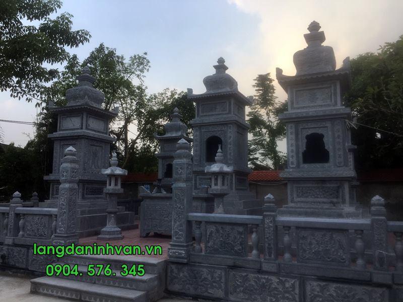 Mẫu mộ tháp bằng đá đẹp đựng tro cốt 01