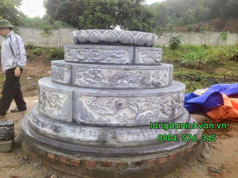 Mẫu mộ tròn bằng đá đẹp 02