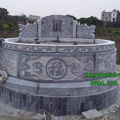 Mẫu mộ tròn bằng đá đẹp 03