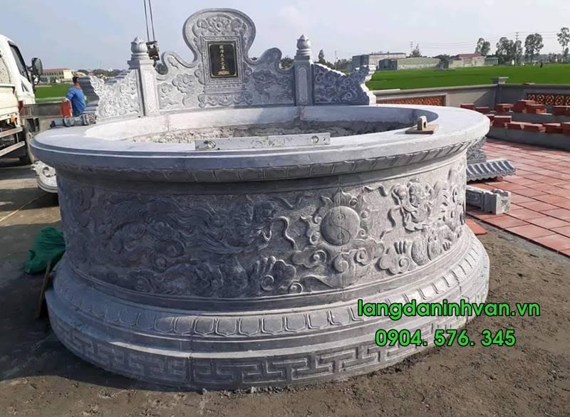 Mẫu mộ tròn bằng đá đẹp 04