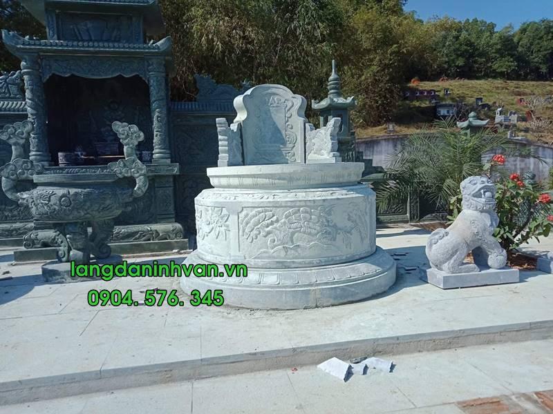 Mẫu mộ tròn bằng đá đẹp 09