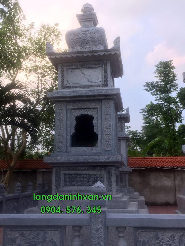 Mộ tháp sư bằng đá tự nhiên đẹp 04