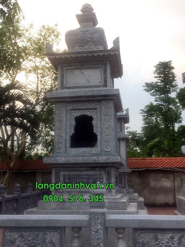 mộ tháp phật giáo bằng đá đẹp-01