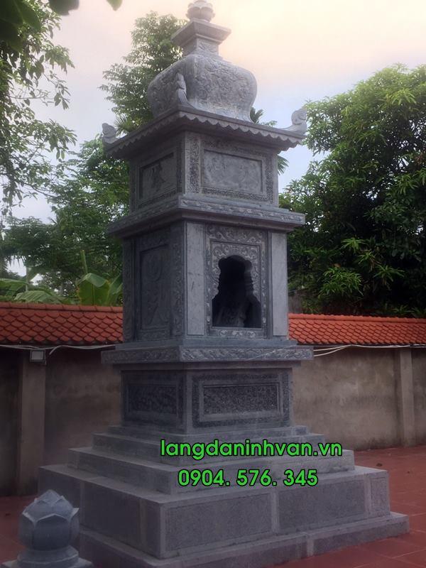 mộ tháp đá được lắp tại hải phòng 03