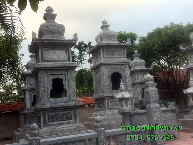 mộ tháp đá được lắp tại hải phòng 08