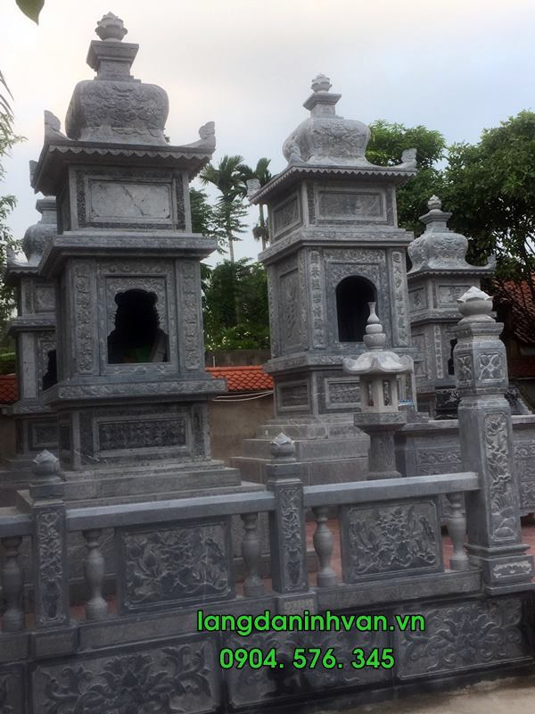 mộ tháp đá được lắp tại hải phòng 07