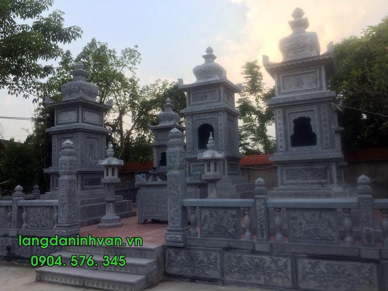 mộ tháp đá được lắp tại hải phòng 06