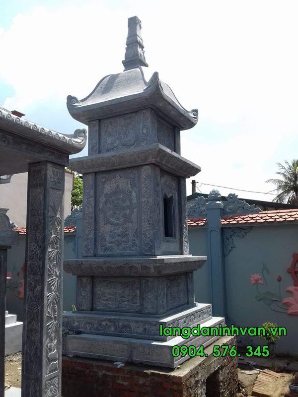 mẫu mộ đá tháp đẹp đơn giản