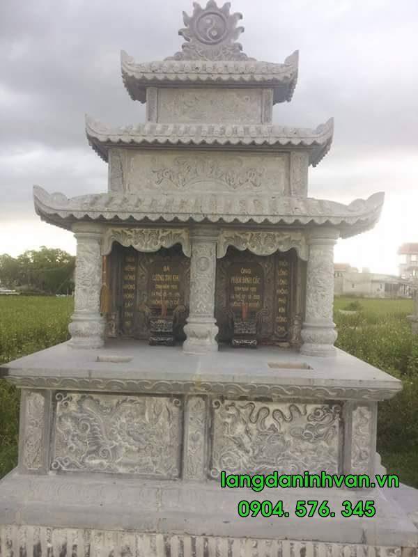 Mẫu mộ đôi bằng đá tự nhiên đẹp 01