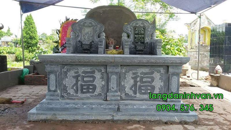 Mẫu mộ đôi bằng đá tự nhiên đẹp 011
