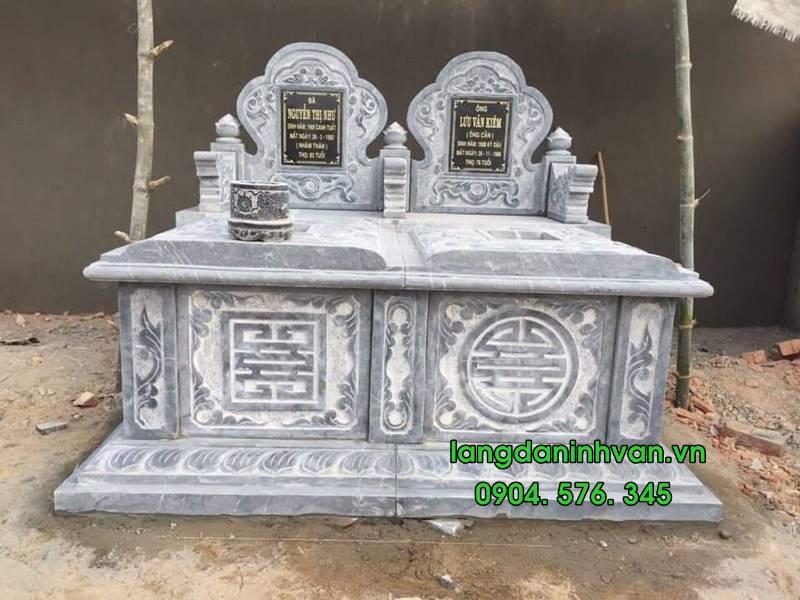 Mẫu mộ đôi bằng đá tự nhiên đẹp 013