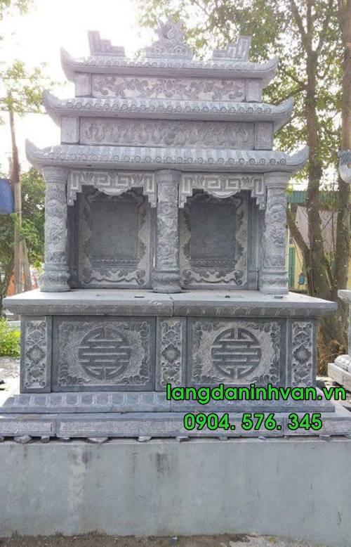 Mẫu mộ đôi bằng đá tự nhiên đẹp 02