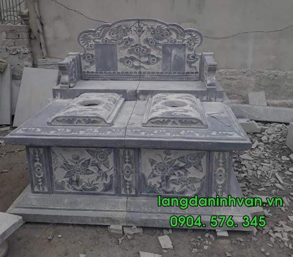 Mẫu mộ đôi bằng đá tự nhiên đẹp 03