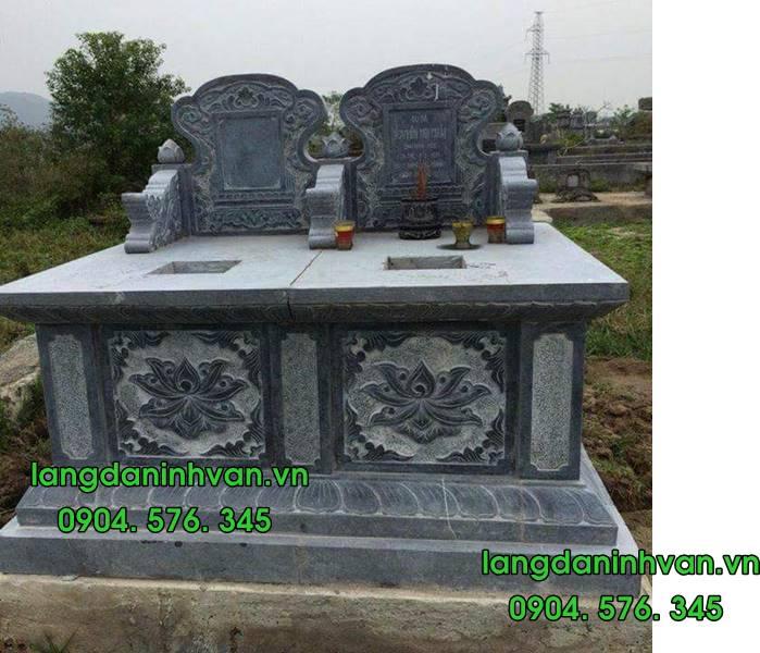 Mẫu mộ đôi bằng đá tự nhiên đẹp 05