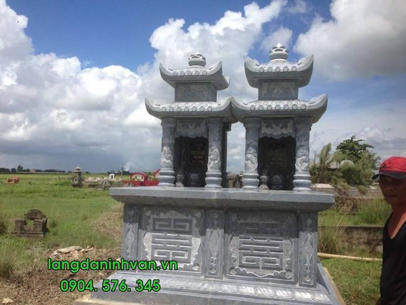 Mẫu mộ đôi bằng đá tự nhiên đẹp 06