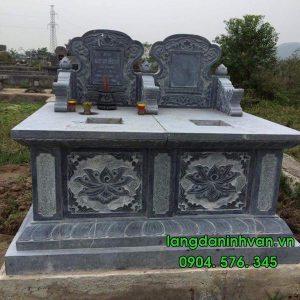 Mẫu mộ đôi bằng đá tự nhiên đẹp 09