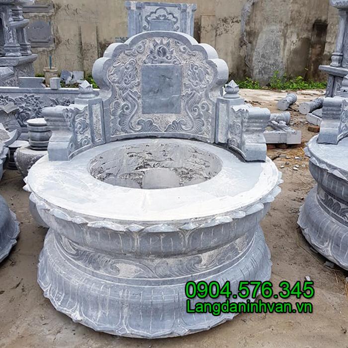 Mẫu mộ tròn bằng đá khối