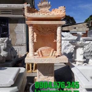 Mẫu am thờ bằng đá vàng