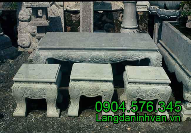 bàn ghế bằng đá - Vật Phẩm Công đức, cung tiến vào Chùa, Đình, Đền, Nhờ thờ họ đàu năm