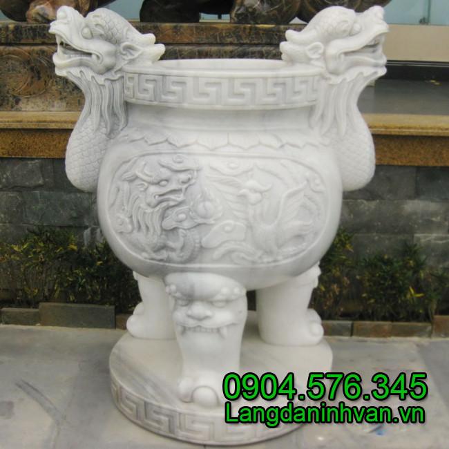 Mẫu lư hương bằng đá non nước Đà Nẵng đẹp, chất lượng cao, giá rẻ