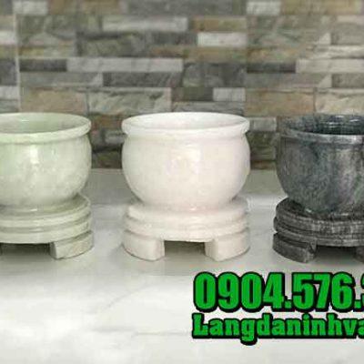 Mẫu bát hương đá trắng đẹp, chất lượng cao, giá rẻ