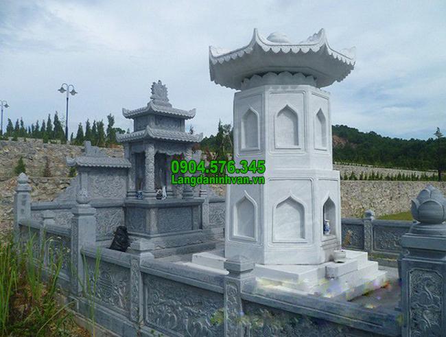 Mẫu mộ tháp bằng đá trắng đẹp nhất 2020