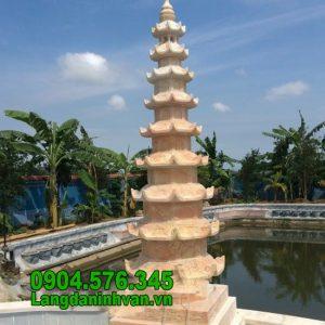 Mẫu mộ tháp bằng đá vàng đẹp nhất 2020