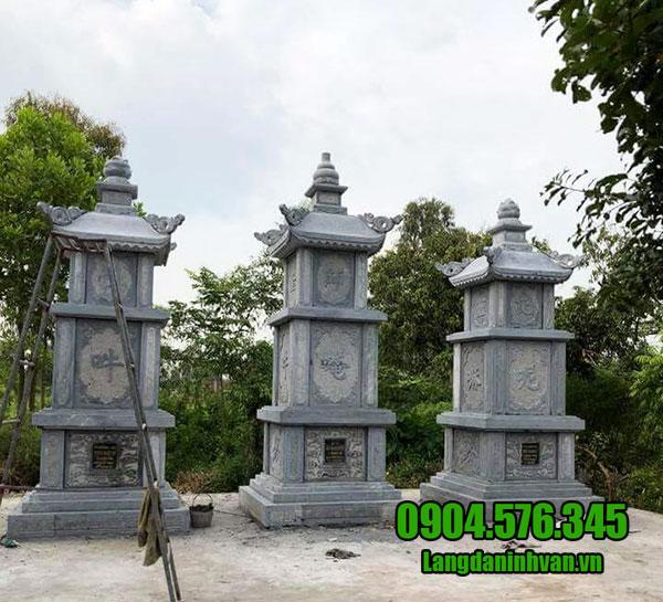 Làm mộ tháp bằng đá xanh